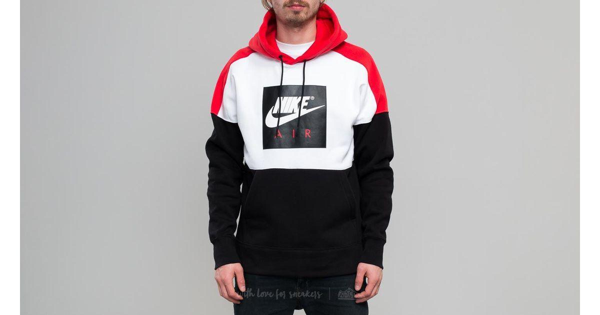 quite nice 100% satisfaction guarantee dirt cheap Nike Sportswear Fleece Pullover Hoodie White/ Red/ Black for men