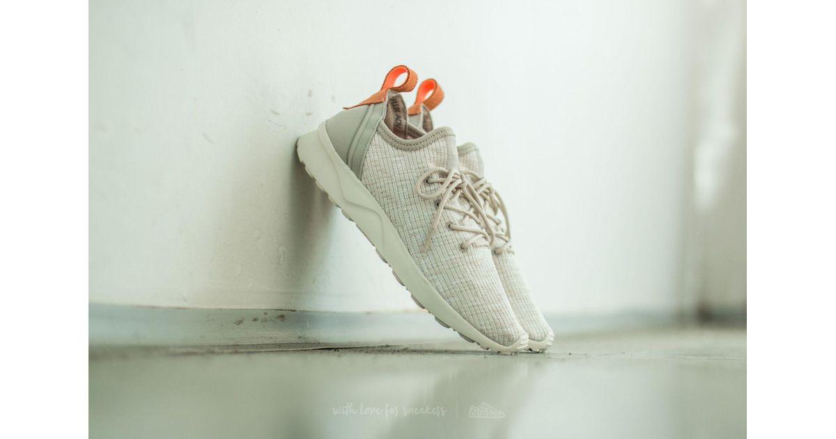 pretty nice fd30e 07178 adidas Originals Adidas Zx Flux Adv Virtue Sock W Clear Brown/ Off White/  Sun Glow - Lyst