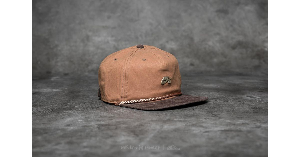 d1507fc9ce17 ... discount lyst nike sb waxed canvas pro cap ale brown baroque brown  anthracite in brown for
