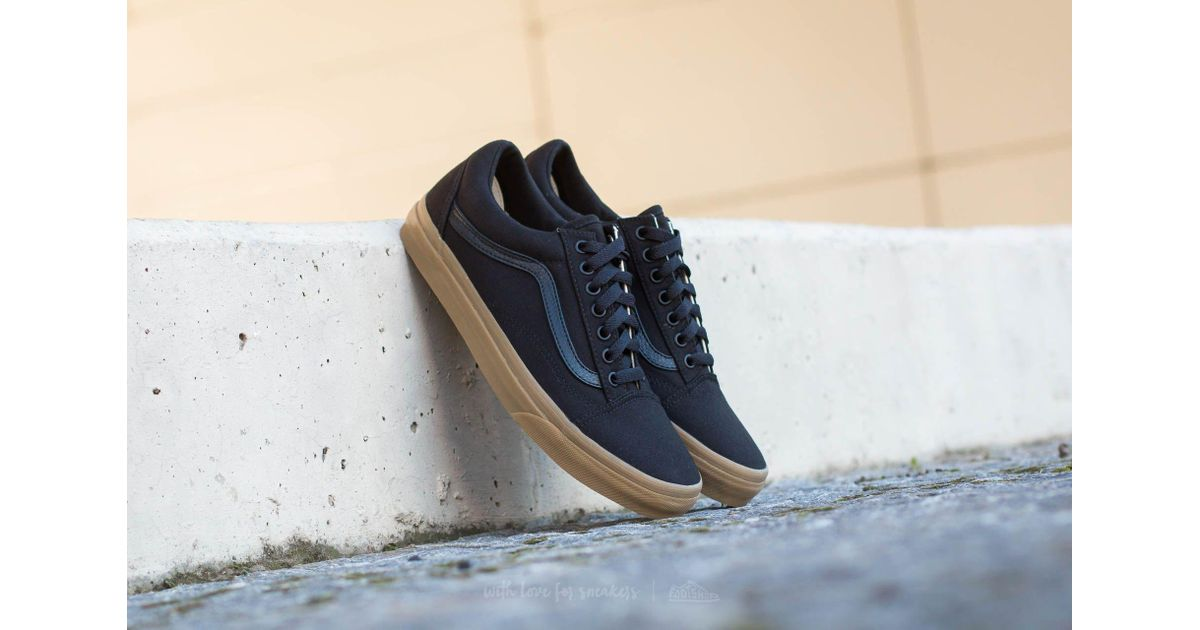 vans old skool black light gum
