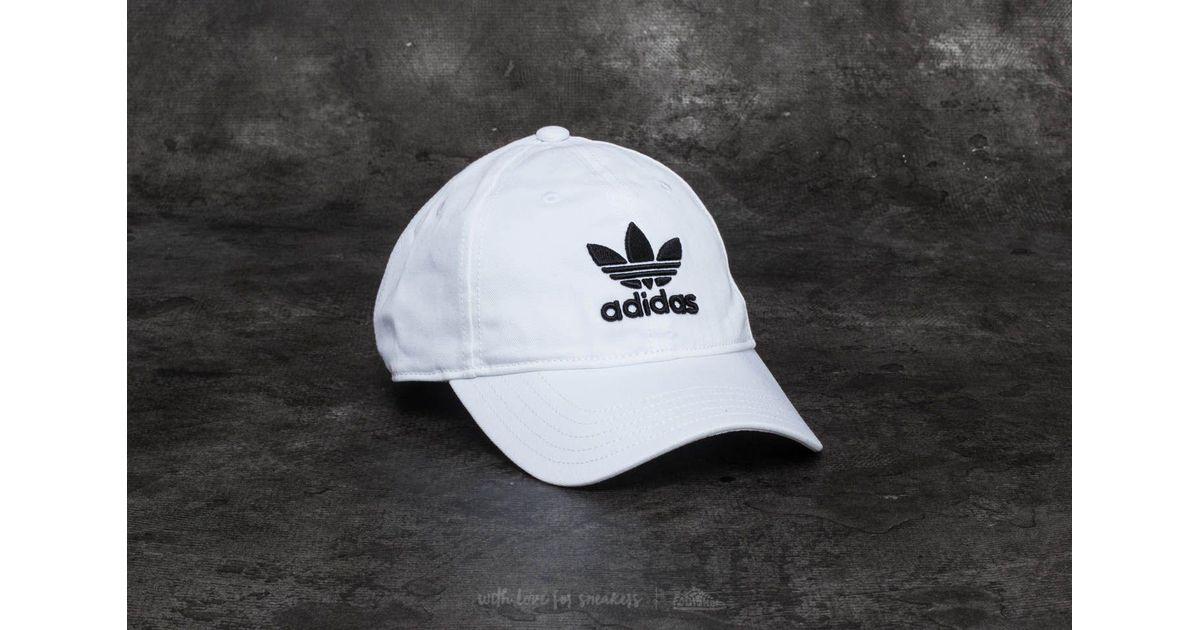 c8abdc94 ... czech lyst adidas originals adidas trefoil classic cap white black in  white for men 13c55 22b61
