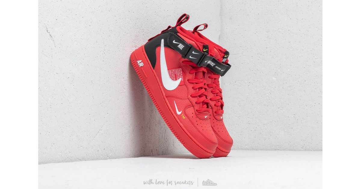 Lyst - Nike Air Force 1 Mid  07 Lv8 University Red  White- Black in Red for  Men 5ca64c886