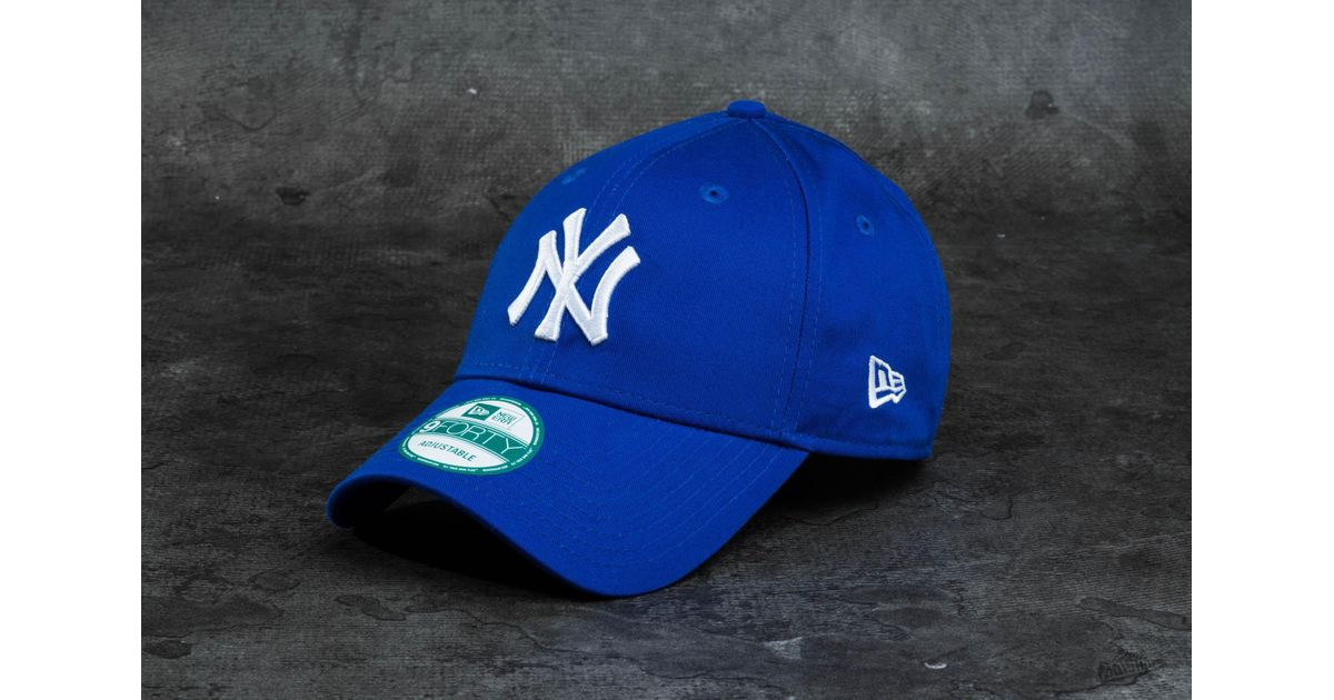 d82d05719b3 Lyst - KTZ 9forty League Basic New York Yankees Cap Blue  White in Blue for  Men
