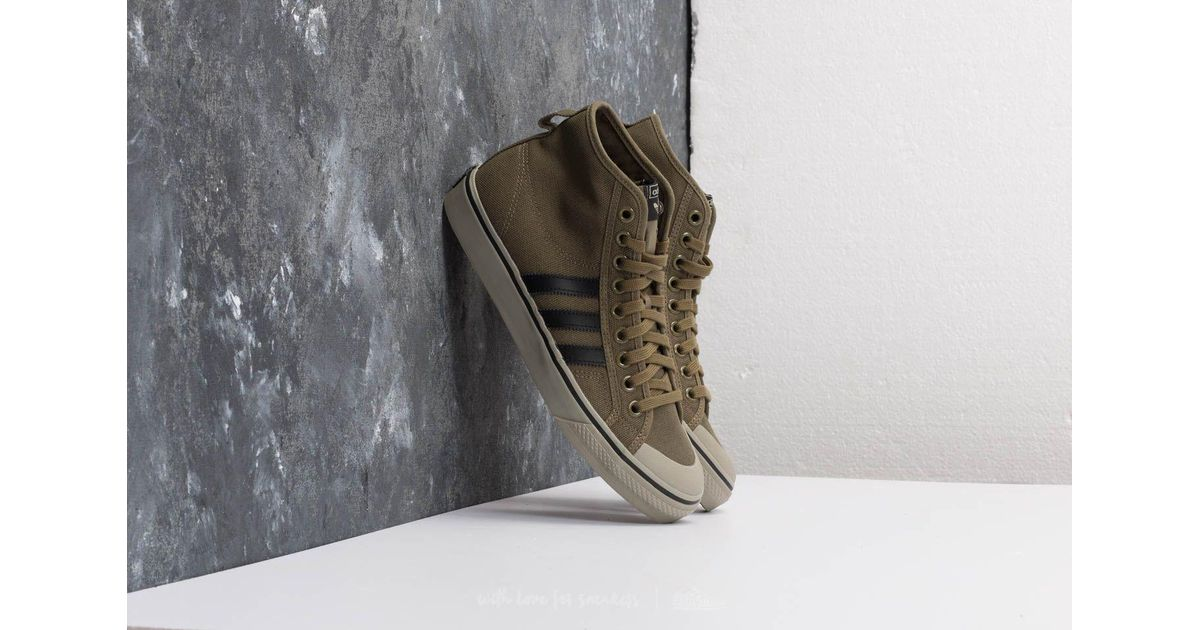 Lyst adidas Originals Adidas Nizza Hi Olive carga / CORE negro