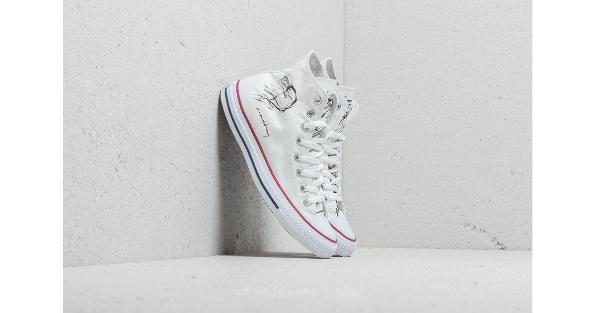 lyst footshop ftshp x maxim converse all star hi white in white