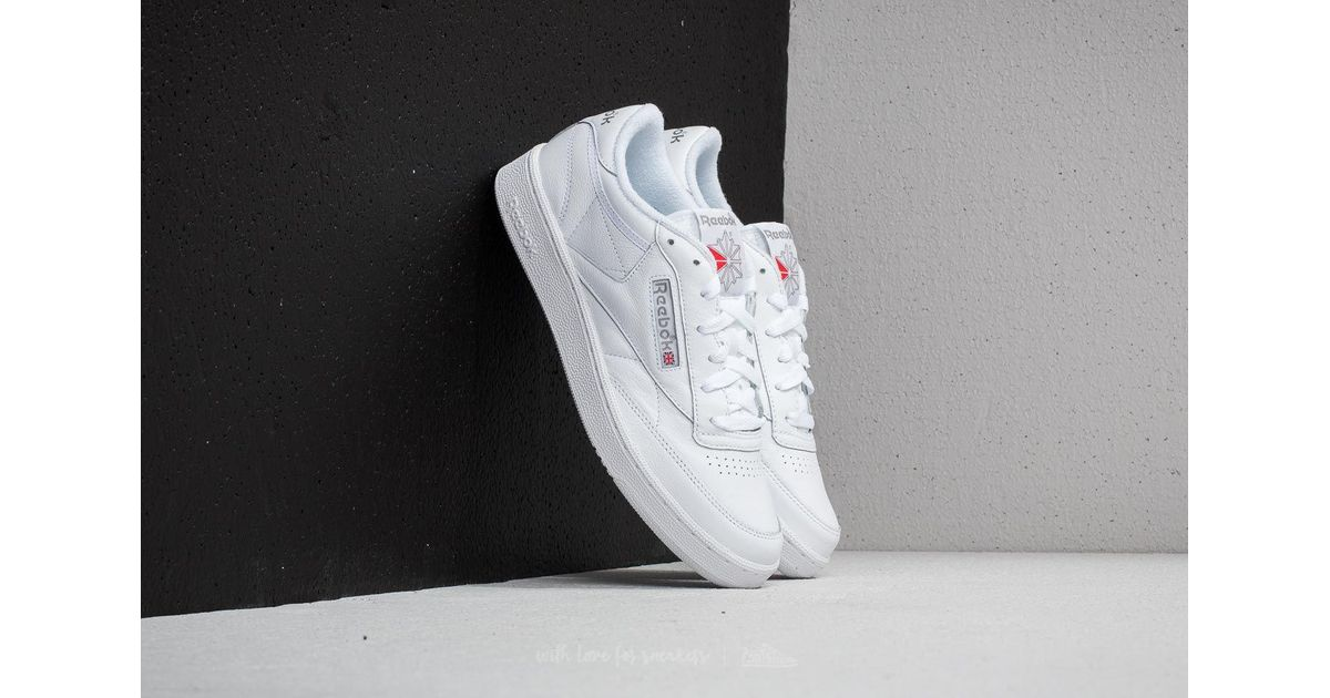 e9c5566986b589 Lyst - Reebok Reebok Club C 85 Archive White  Carbon  Excellent Red in White  for Men