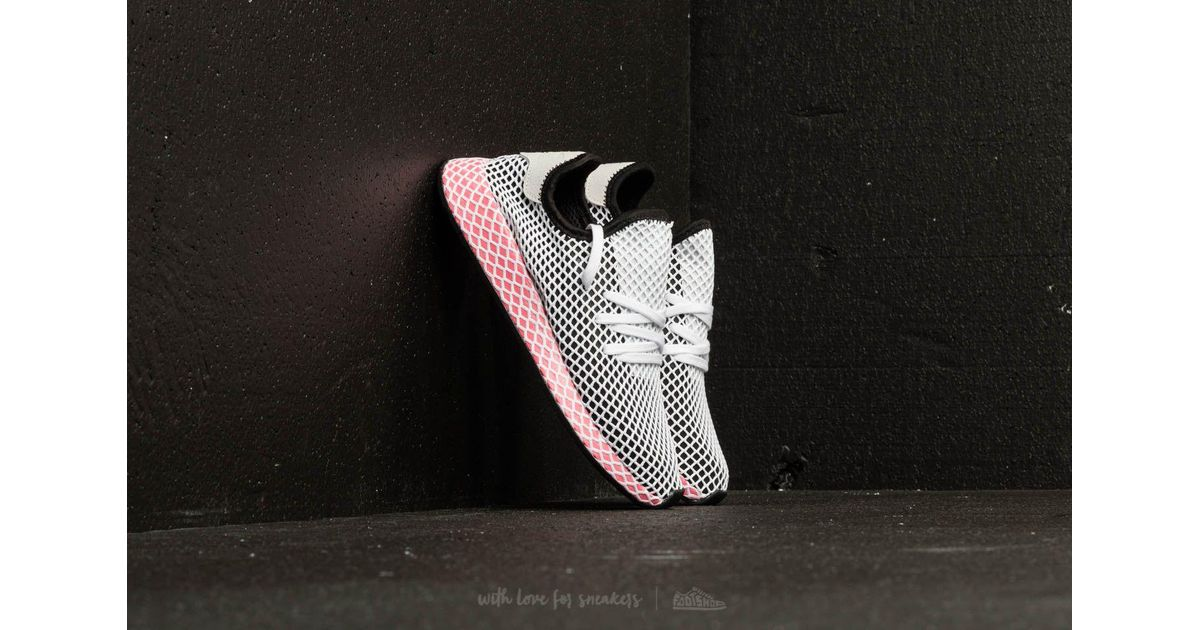 1cdc327c11d032 Lyst - adidas Originals Adidas Deerupt Runner W Core Black  Core Black  Chalk  Pink in Black