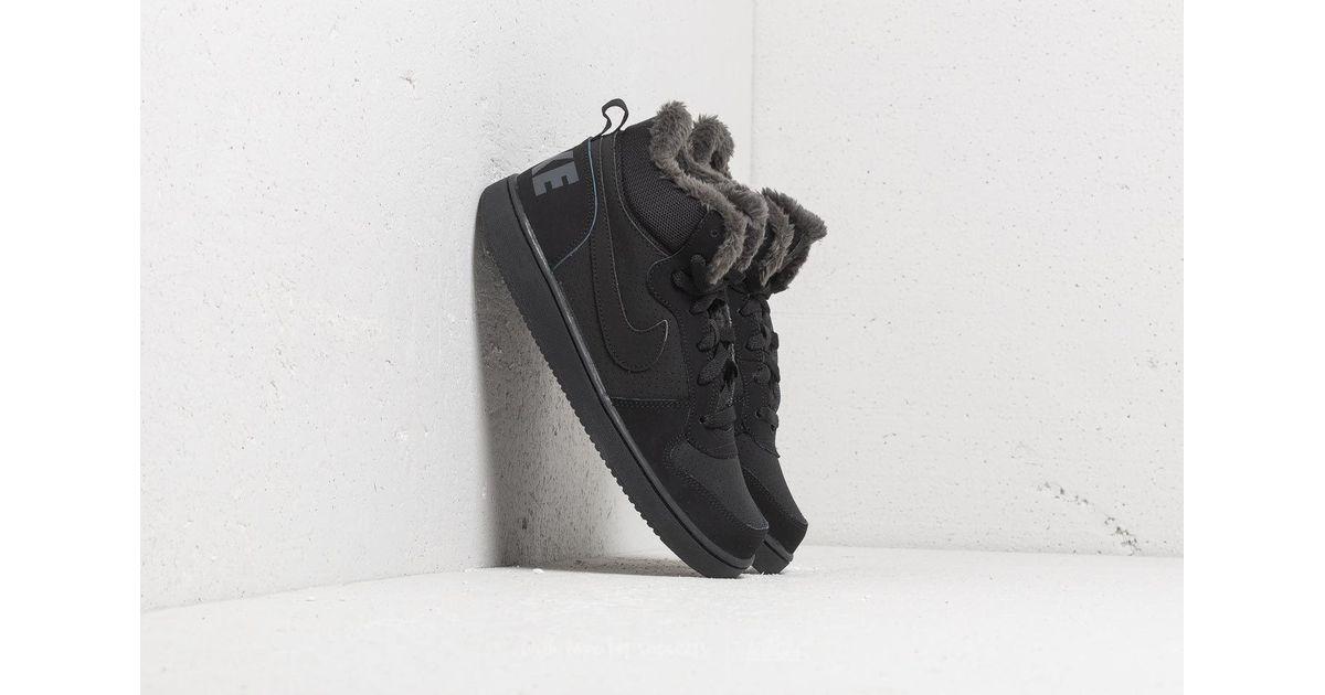 Lyst - Nike Court Borough Mid Winter (gs) Black  Black-anthracite in Black 996c73bdb