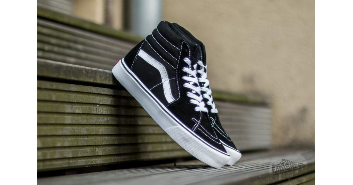 Lyst - Vans Sk8-hi Lite (suede  Canvas) Black white for Men 853e97ae0