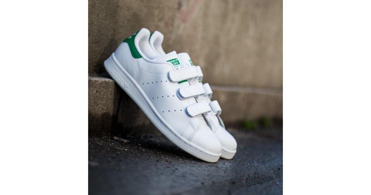 Adidas Originals - Adidas Stan Smith Cf Ftw White/ Ftw White/ Green for Men  - Lyst