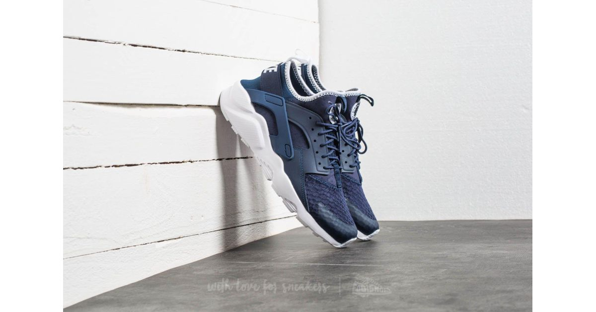 low priced a17f6 c6032 Nike Air Huarache Run Ultra Midnight Navy  Obsidian-white in Blue for Men -  Lyst