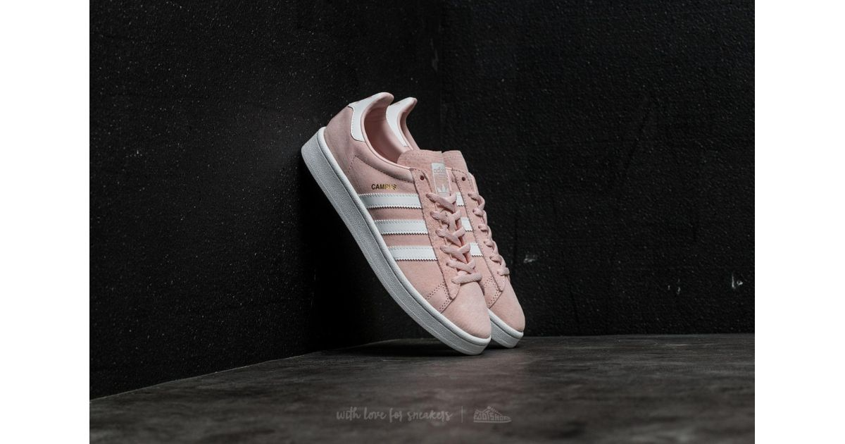 Lyst - Adidas Originals Adidas Campus W Icey Pink/ Ftw White/ Crystal White  in White