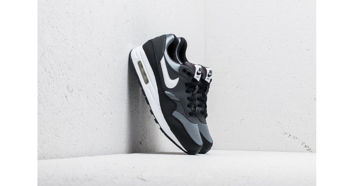 Lyst - Nike Air Max 1 (gs) Black  White-anthracite in Black a3df0616273