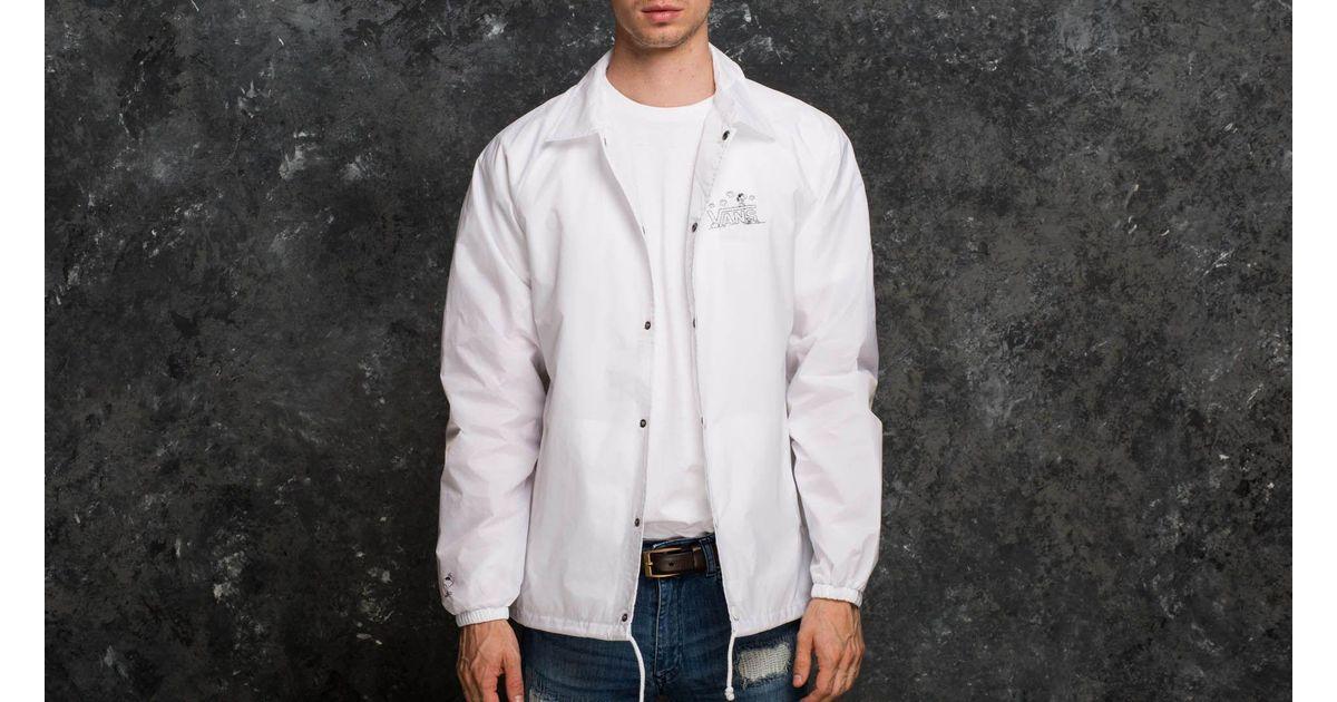 61caa2fbda Lyst - Vans X Peanuts Torrey Coach Jacket White in White for Men