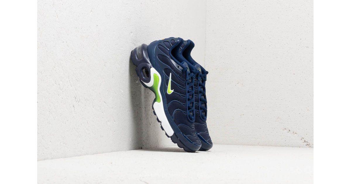 Lyst - Nike Air Max Plus (gs) Midnight Navy  Volt-blue Void in Blue daec69d5e1