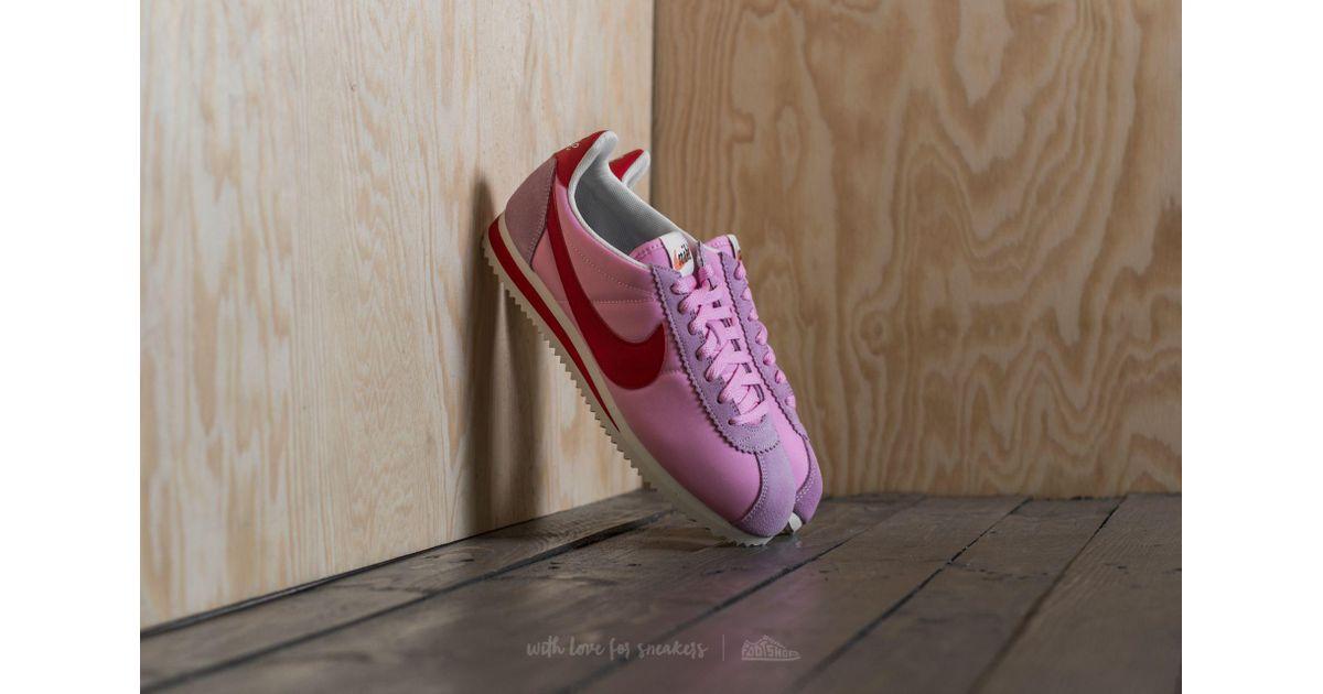 size 40 1e8e9 80e72 Nike Wmns Classic Cortez Nylon Premium Perfect Pink  Sport Red-sail - Lyst