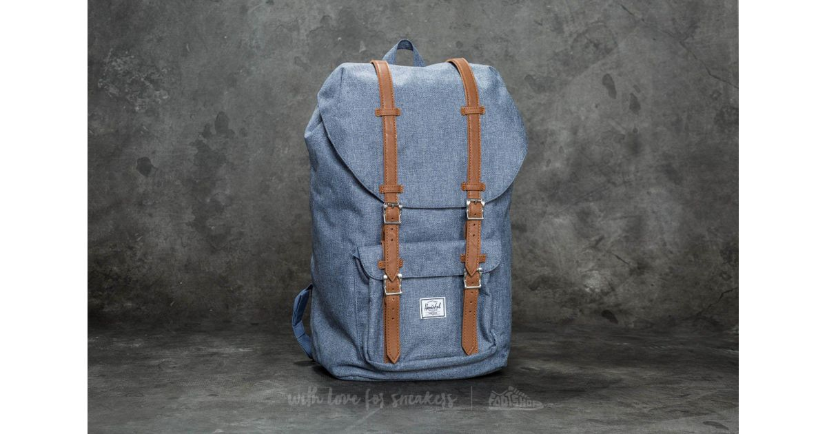 7499b0d2caa Little America Backpack Dark Chambray Crosshatch  Tan Synthetic Leather in  Blue for Men