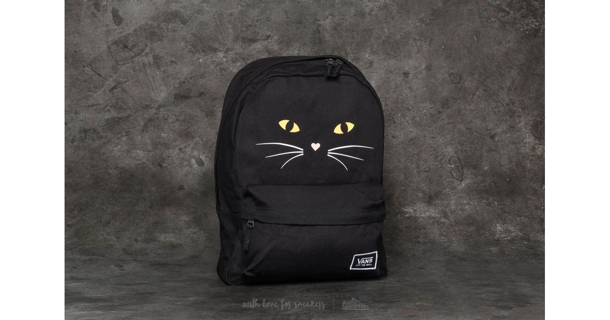 a4a6ab9495 Lyst - Vans Realm Classic Backpack Black Cat in Black