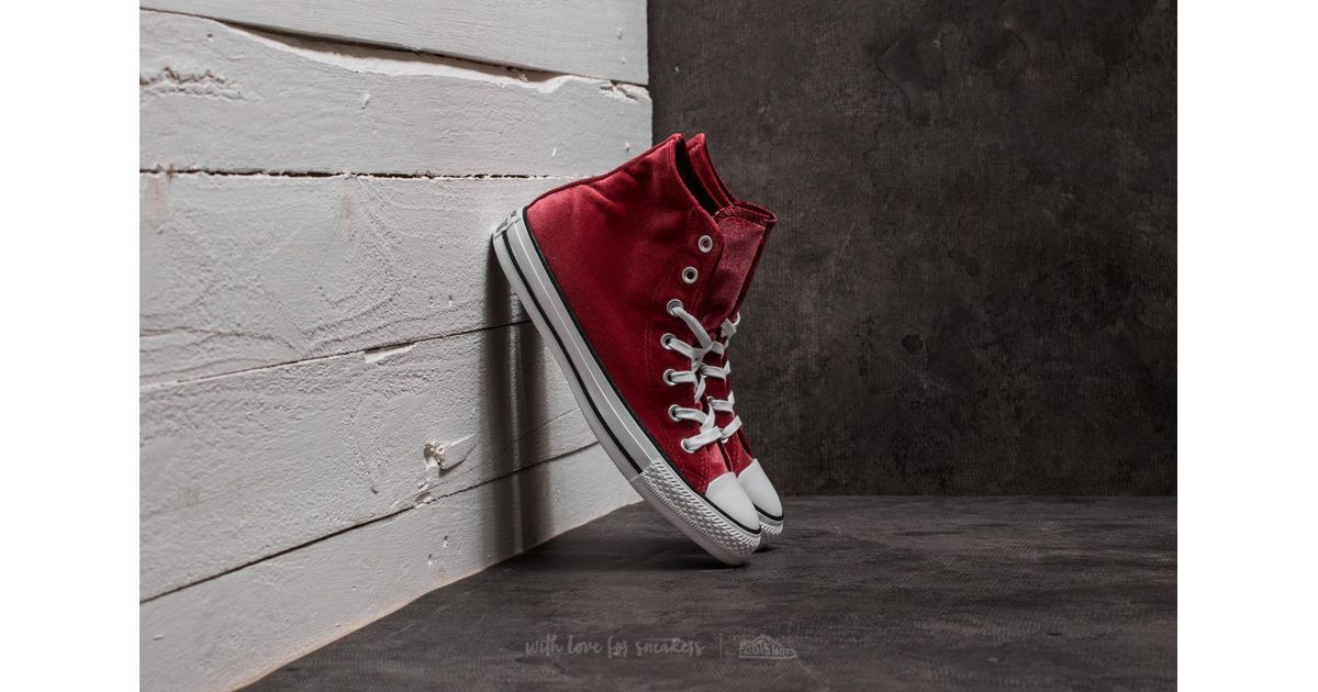 Lyst - Converse Chuck Taylor All Star Hi Red Block  White  White fbe825415