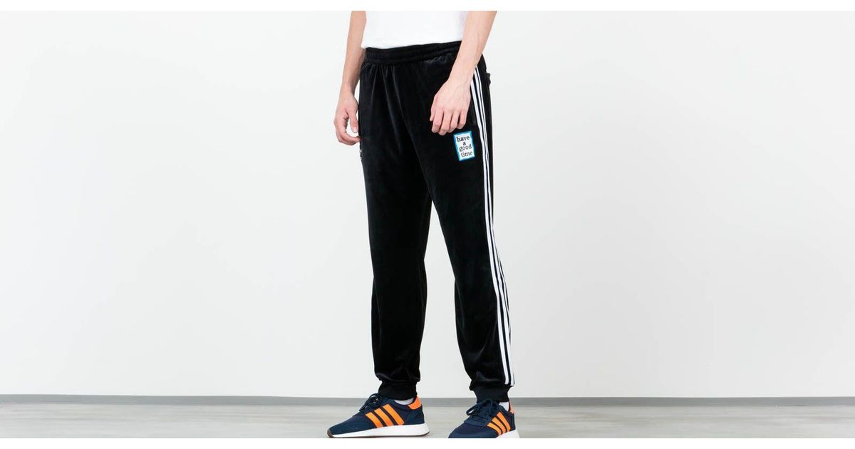 a50dc10c468 adidas Originals Adidas X Have A Good Time Velour Track Pants Black in  Black for Men - Lyst
