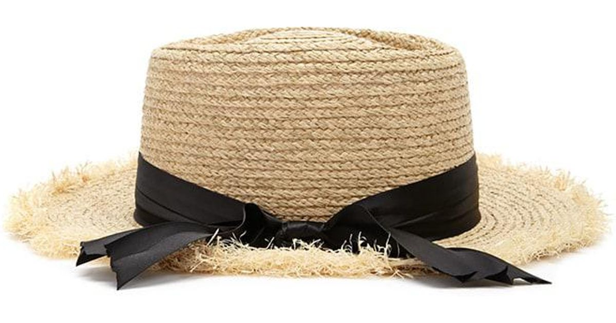 Lyst - Forever 21 Frayed Straw Hat in Natural e7501712a225