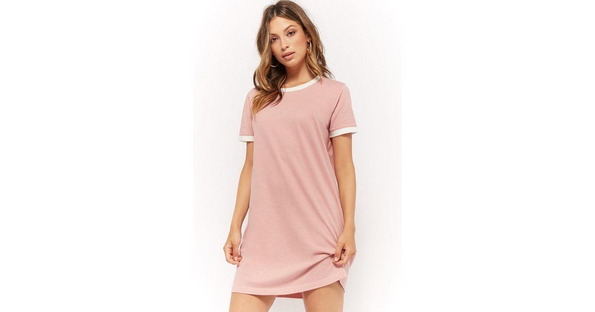 b2ff7979005d4b Forever 21 Ringer T-shirt Dress in Pink - Lyst