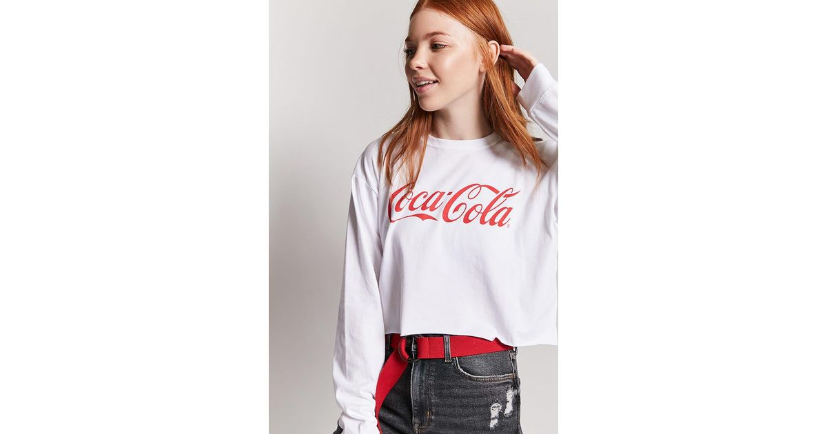 c0d04b75113a6 Lyst - Forever 21 Coca-cola Graphic Logo Tee in White