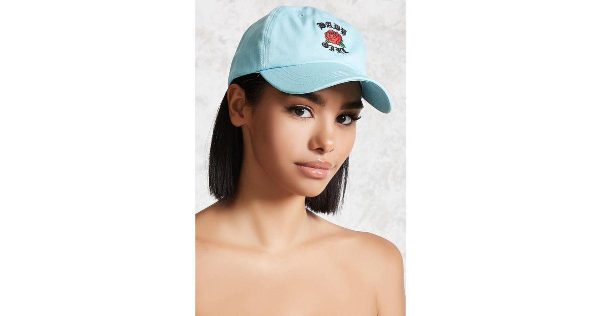 Lyst - Forever 21 Baby Girl Baseball Cap in Blue 64b70b62aff