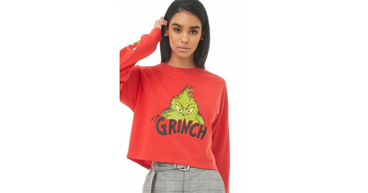 045ec4bf Forever 21 The Grinch Graphic Top in Red - Lyst