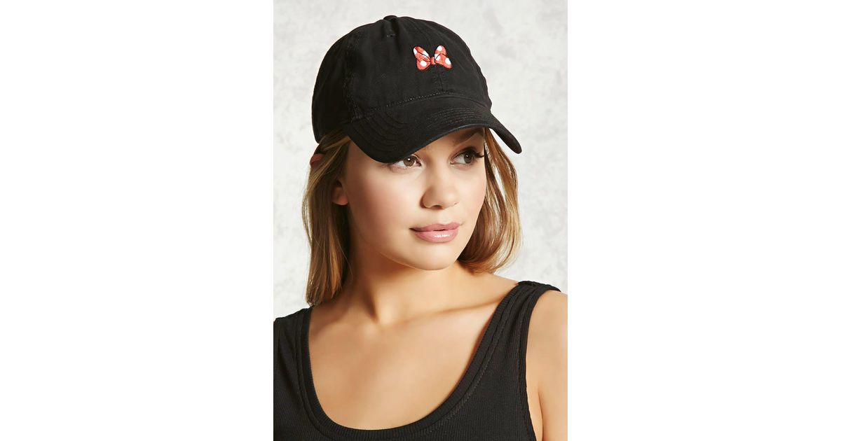 ddf2c62e24b Lyst - Forever 21 Minnie Mouse Baseball Cap in Black