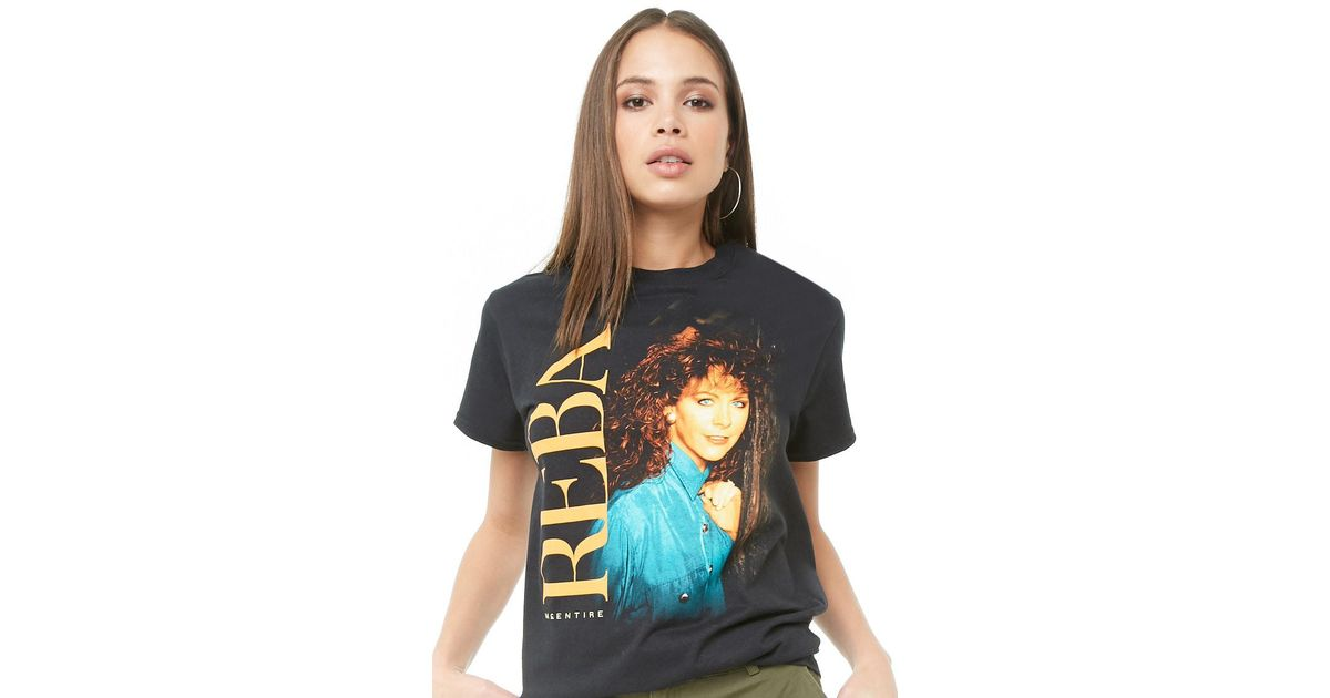 edee5829e36 Lyst - Forever 21 Reba Mcentire Graphic Tee in Black