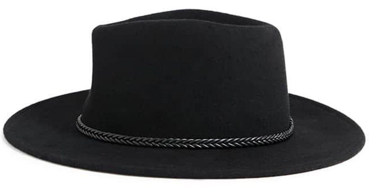 d031f24f38e14 Forever 21 Wool Braid-band Fedora in Black - Lyst
