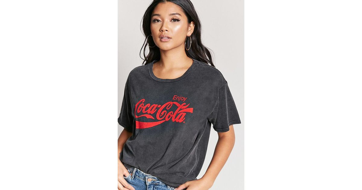 bde8be99 Forever 21 Enjoy Coca-cola Graphic Tee in Gray - Lyst
