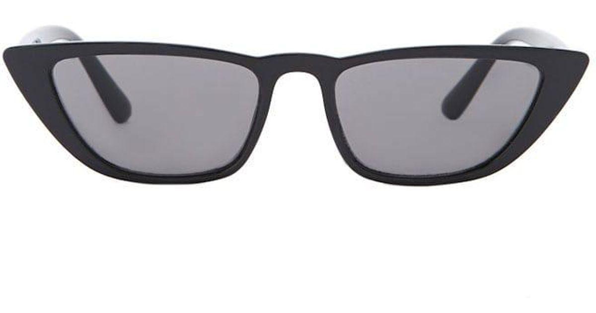 b222ca2490 Lyst - Forever 21 Plastic Cat-eye Sunglasses in Black