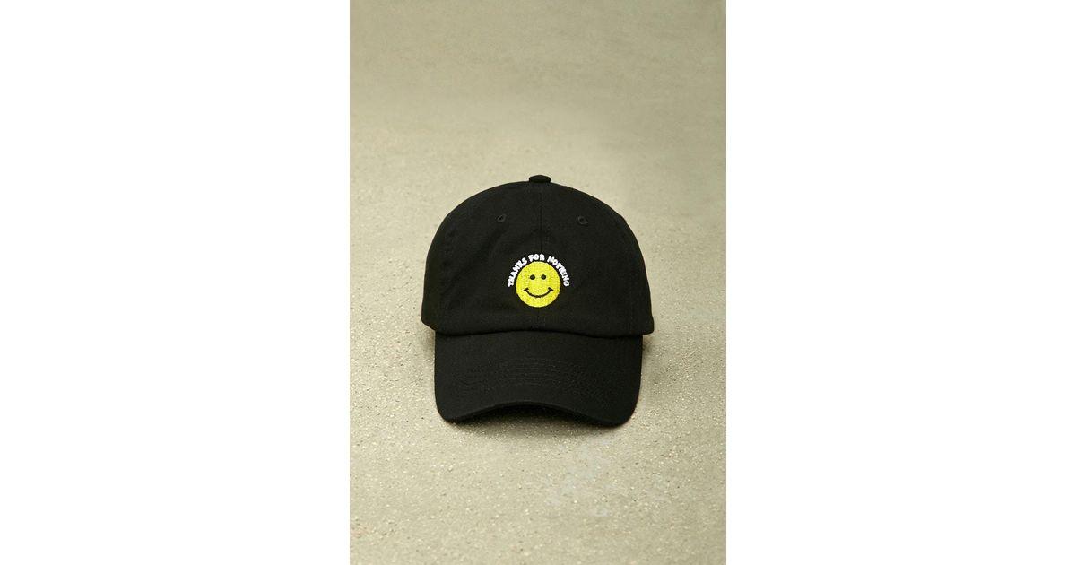 6dc910b9c4c Lyst - Forever 21 Hatbeast Thanks For Nothing Cap in Black for Men