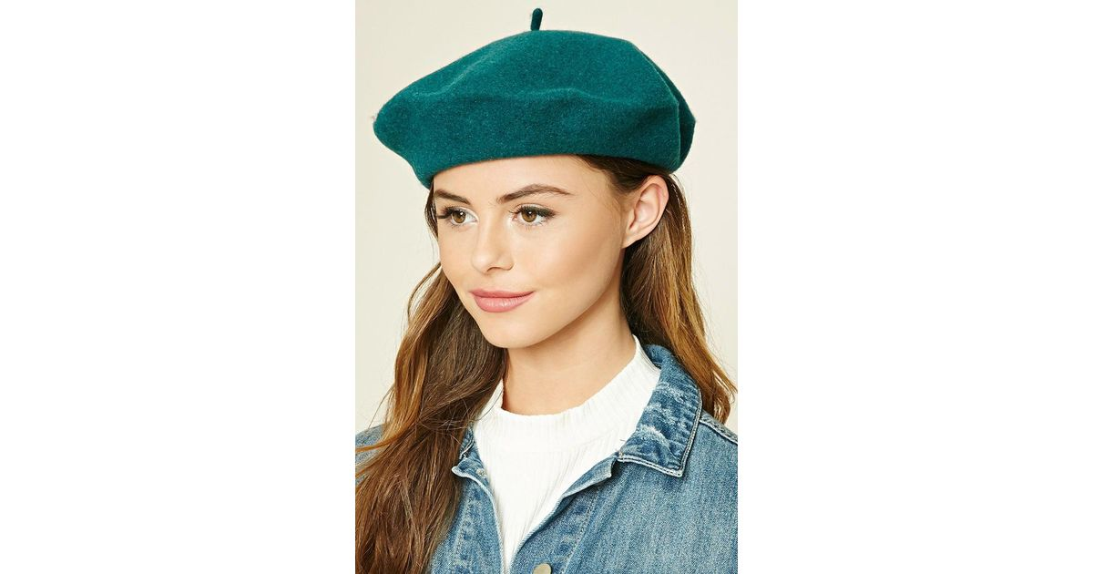 5cc3eff79ecac Lyst - Forever 21 Wool Beret in Green