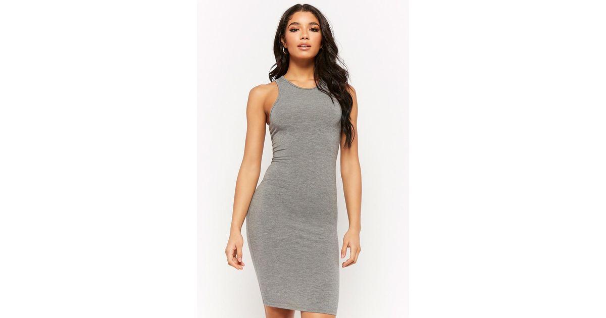 Grey Tank Mini Dress