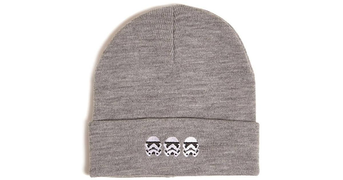 c952b670a0c86 Forever 21 Men Heathered Stormtroopers Beanie in Gray for Men - Lyst