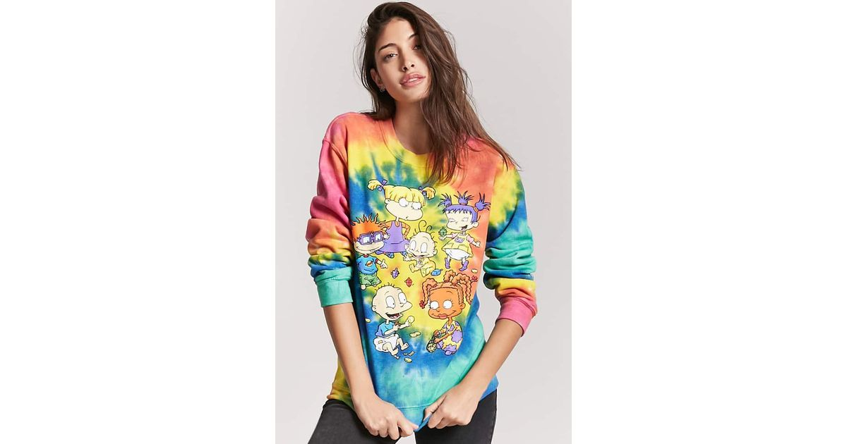 b176a586e5c Lyst - Forever 21 Tie-dye Rugrats Graphic Sweatshirt