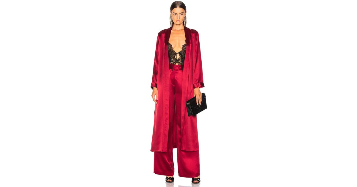 e02328d936b6 Lyst - Michelle Mason For Fwrd Robe With Slits in Red