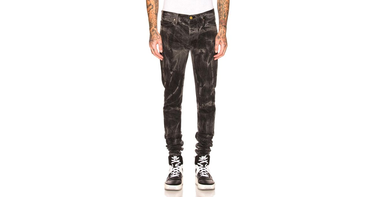 dabf589f Fear Of God Selvedge Denim Holy Water Jeans in Black - Lyst