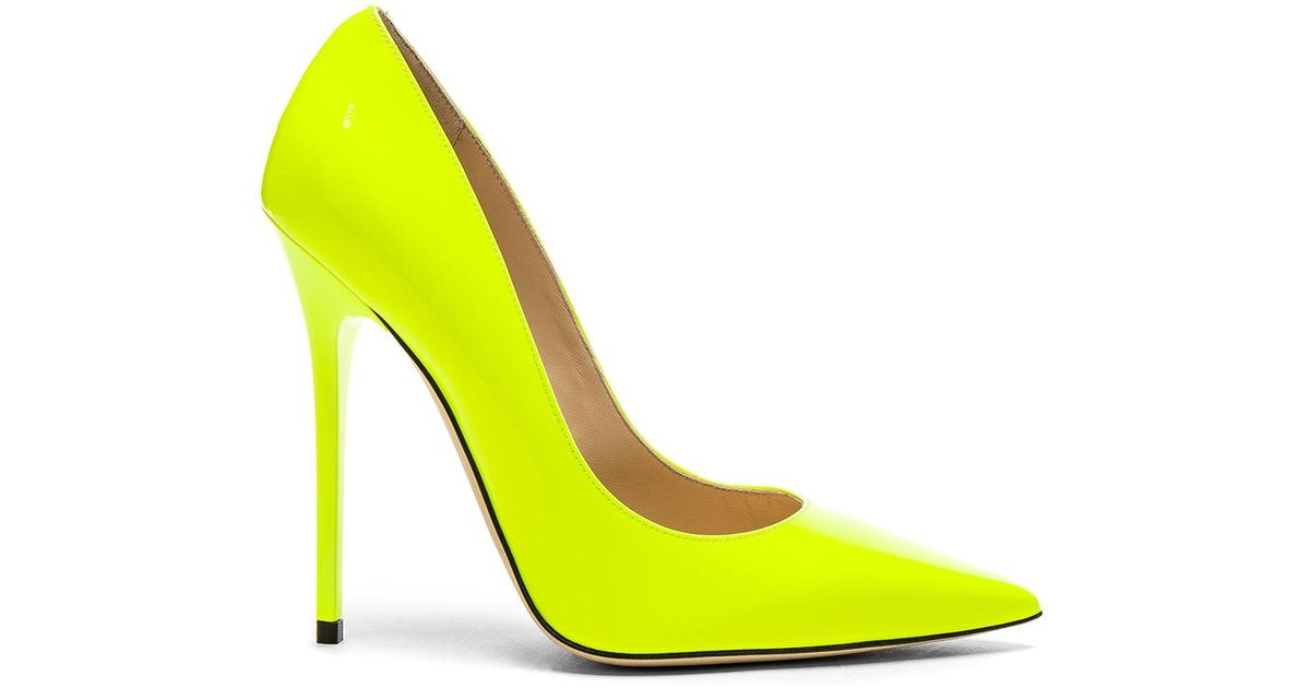 2607ca65932 Neon Yellow Faux Leather Strappy Platform Heels   Cicihot Heel Shoes online  store sales Stiletto Heel Shoes