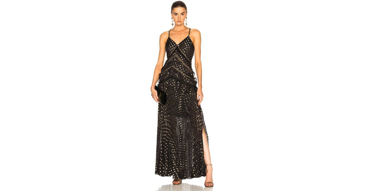 Lyst Self Portrait Pre Owned Black Polyester Dresses In Black