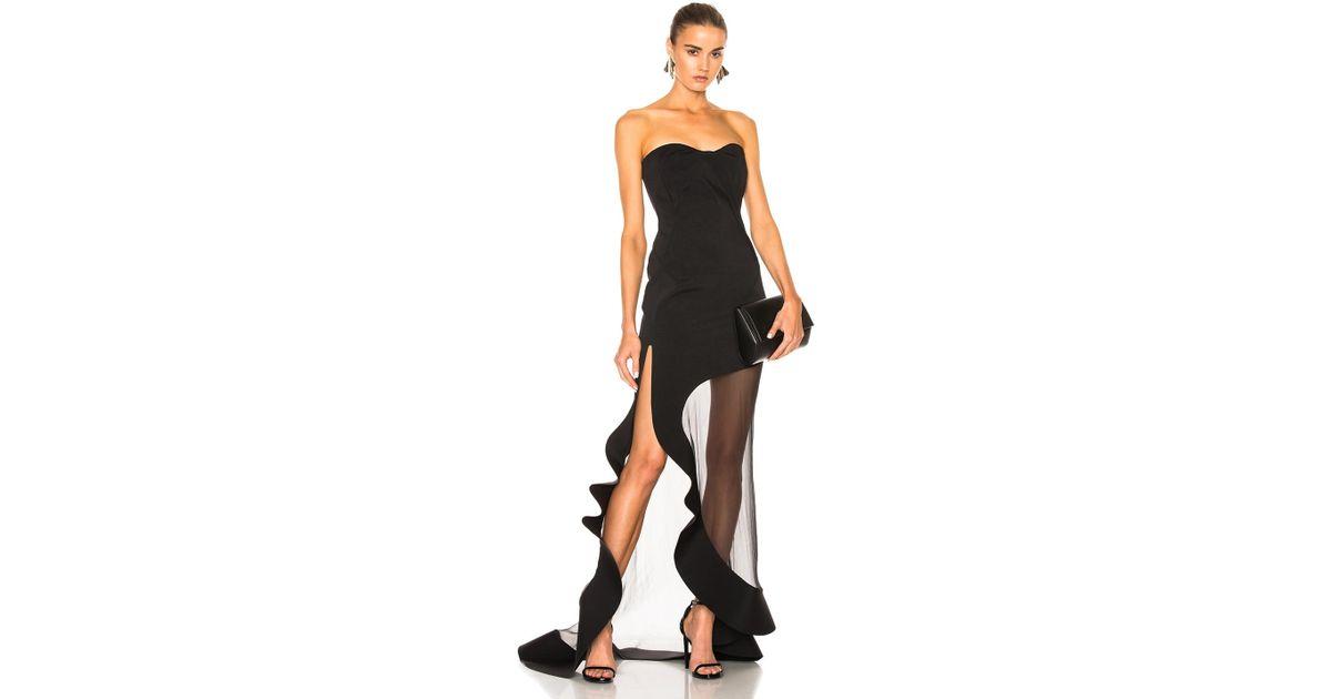 Lyst Esteban Cortazar Strapless Evening Dress In Black