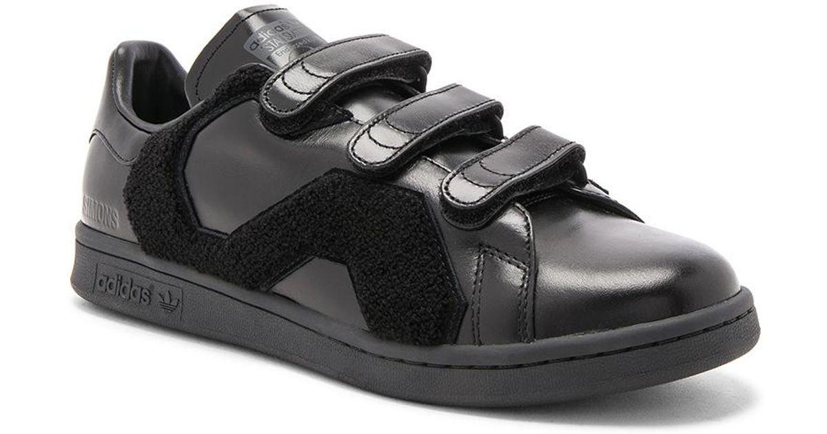 Lyst raf simons x adidas e stan smith conforto distintivo nero