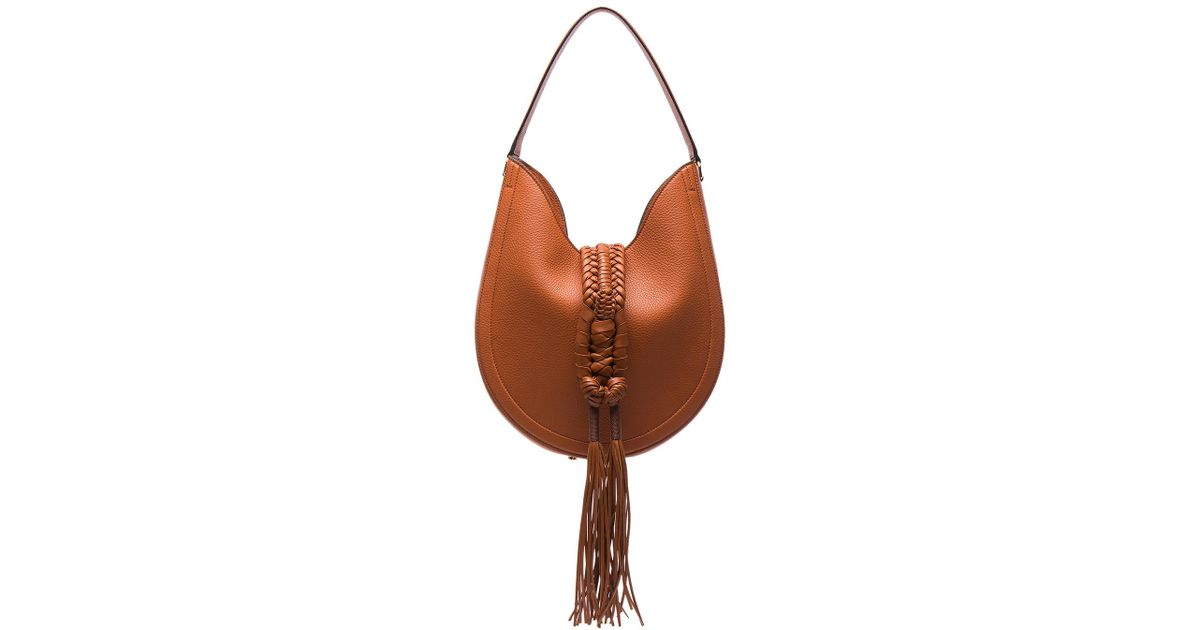 Ghianda Knot hobo suede shoulder bag Altuzarra