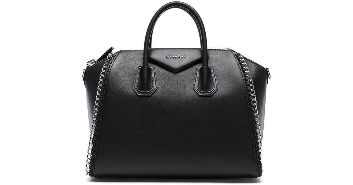 2242a726da06 Lyst - Givenchy Small Smooth Chain Antigona in Black