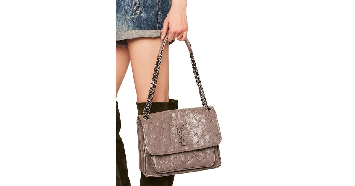 8206d6b9930a Lyst - Saint Laurent Medium Niki Monogramme Chain Bag