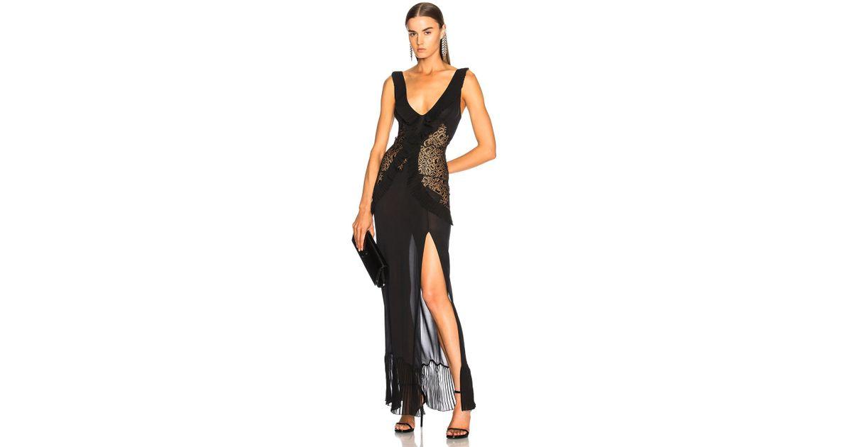 Lyst - La Perla Quartz Garden Night Gown In Black in Black