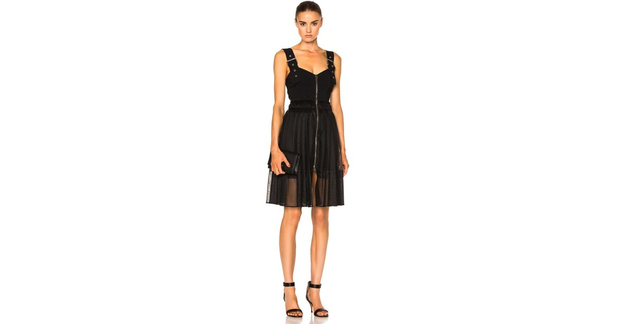 Women's Black Buckle Strap Dress
